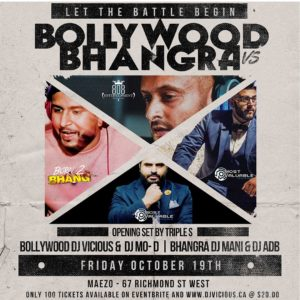 Bollywood vs Bhangra Fri Oct 19